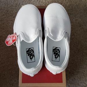 NWT Vans white canvas kids shoes